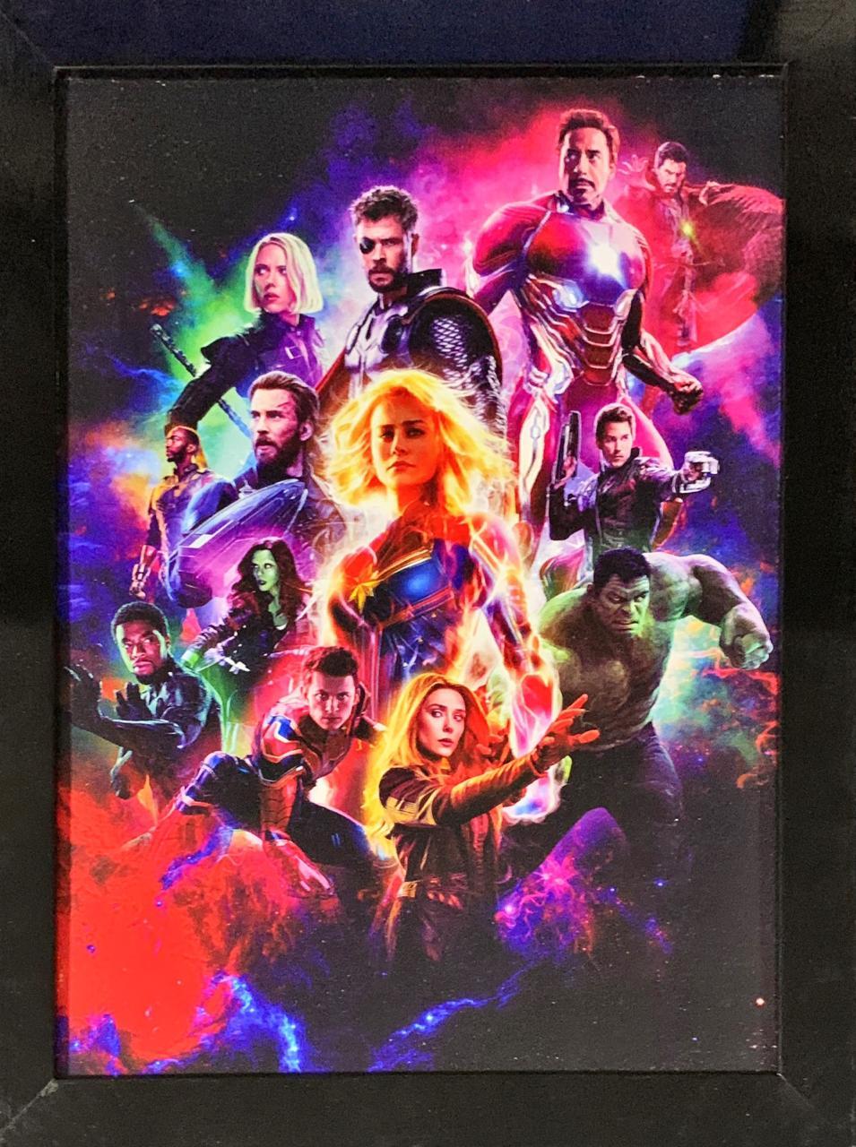 Quadro com Moldura Personagens Vingadores (Avengers): Ultimato (Endgame)