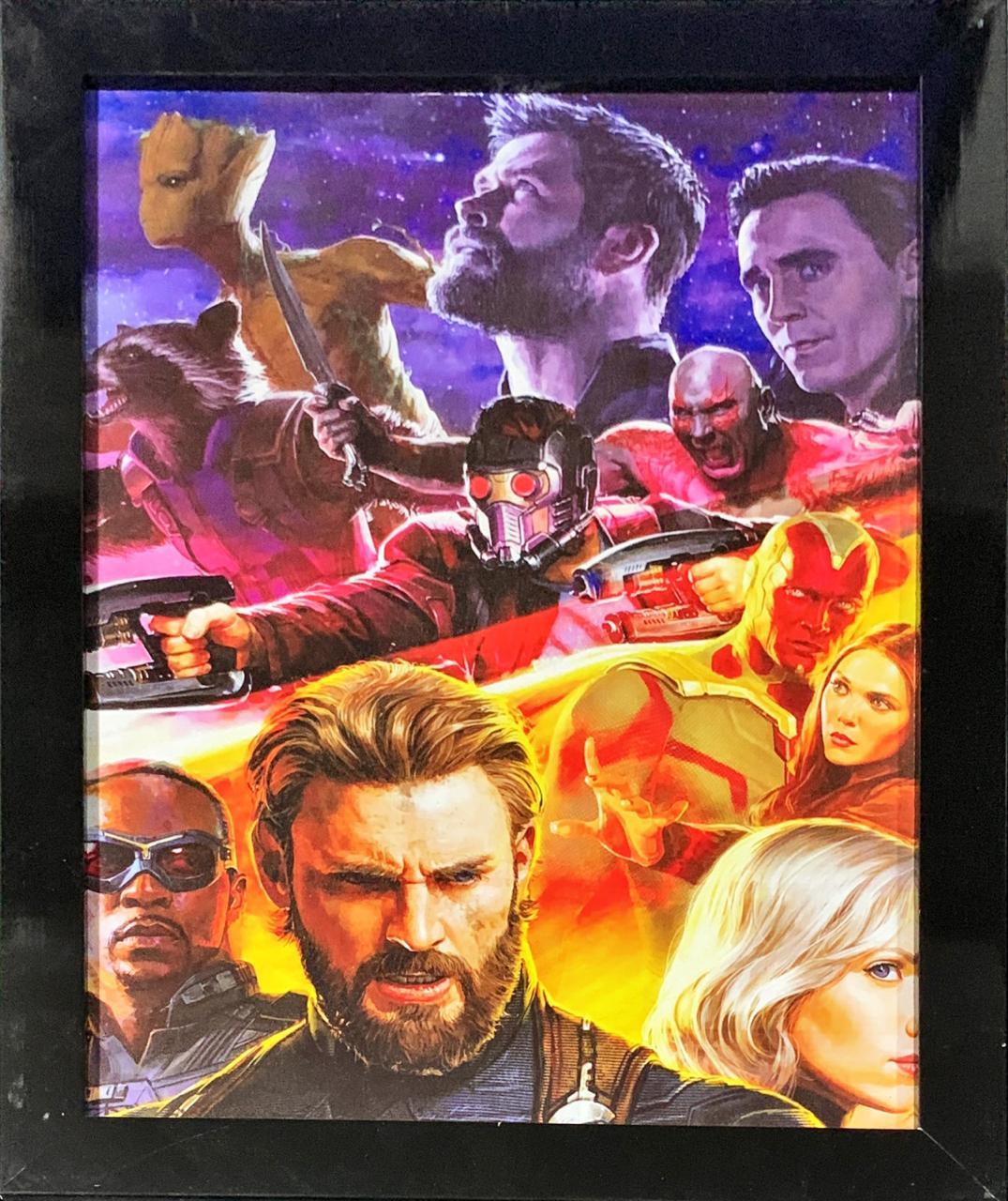 Quadro com Moldura Personagens Vingadores: Guerra Infinita (Avengers: Infinity War)