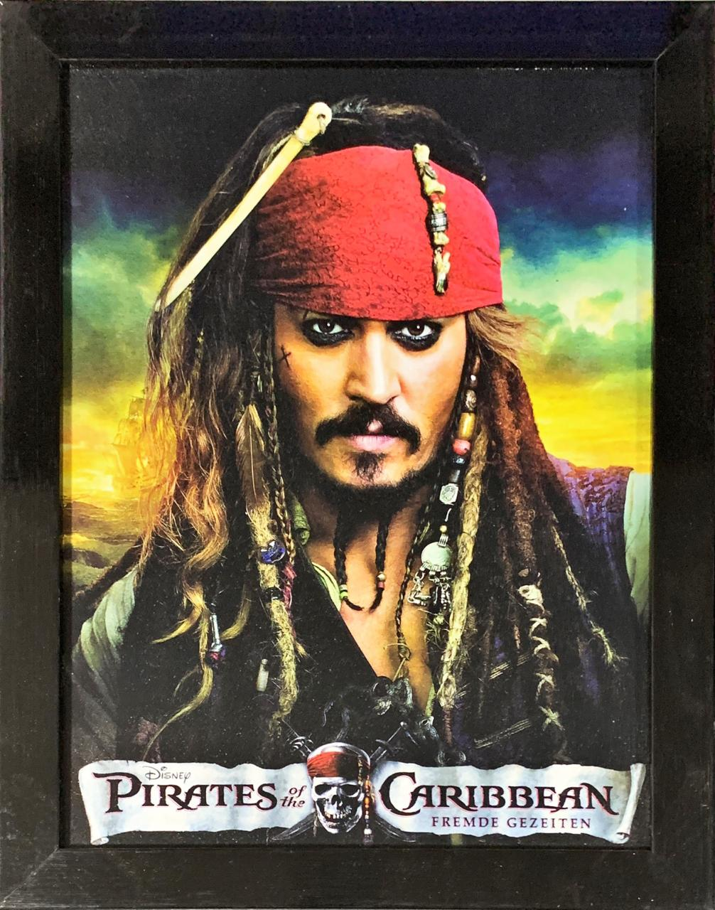 Quadro com Moldura Piratas do Caribe