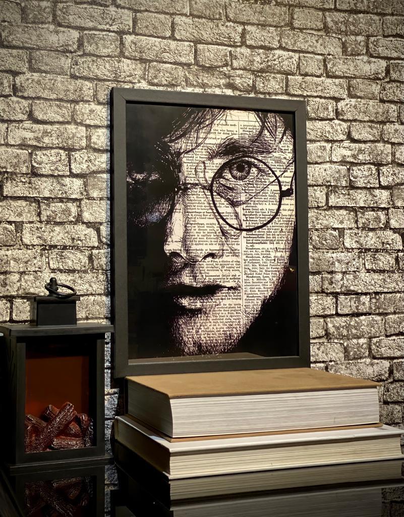 Quadro com Moldura Profeta Diário: Harry Potter - 46x33 - EV