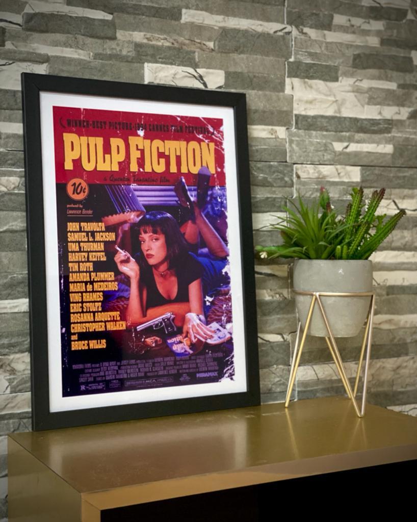 Quadro Com Moldura Pulp Fiction - 46x33 - EV
