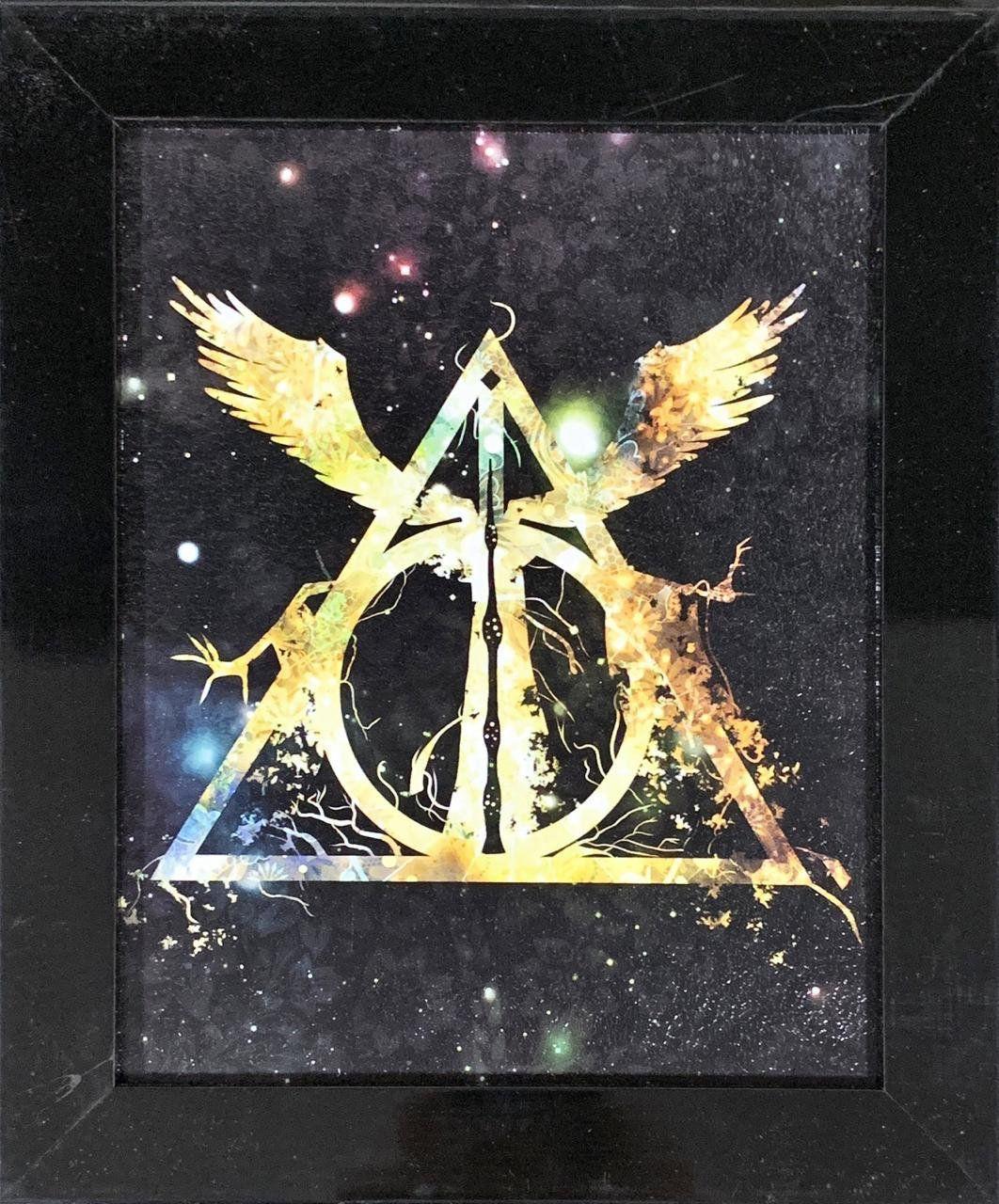 Quadro com Moldura Relíquias da Morte: Harry Potter