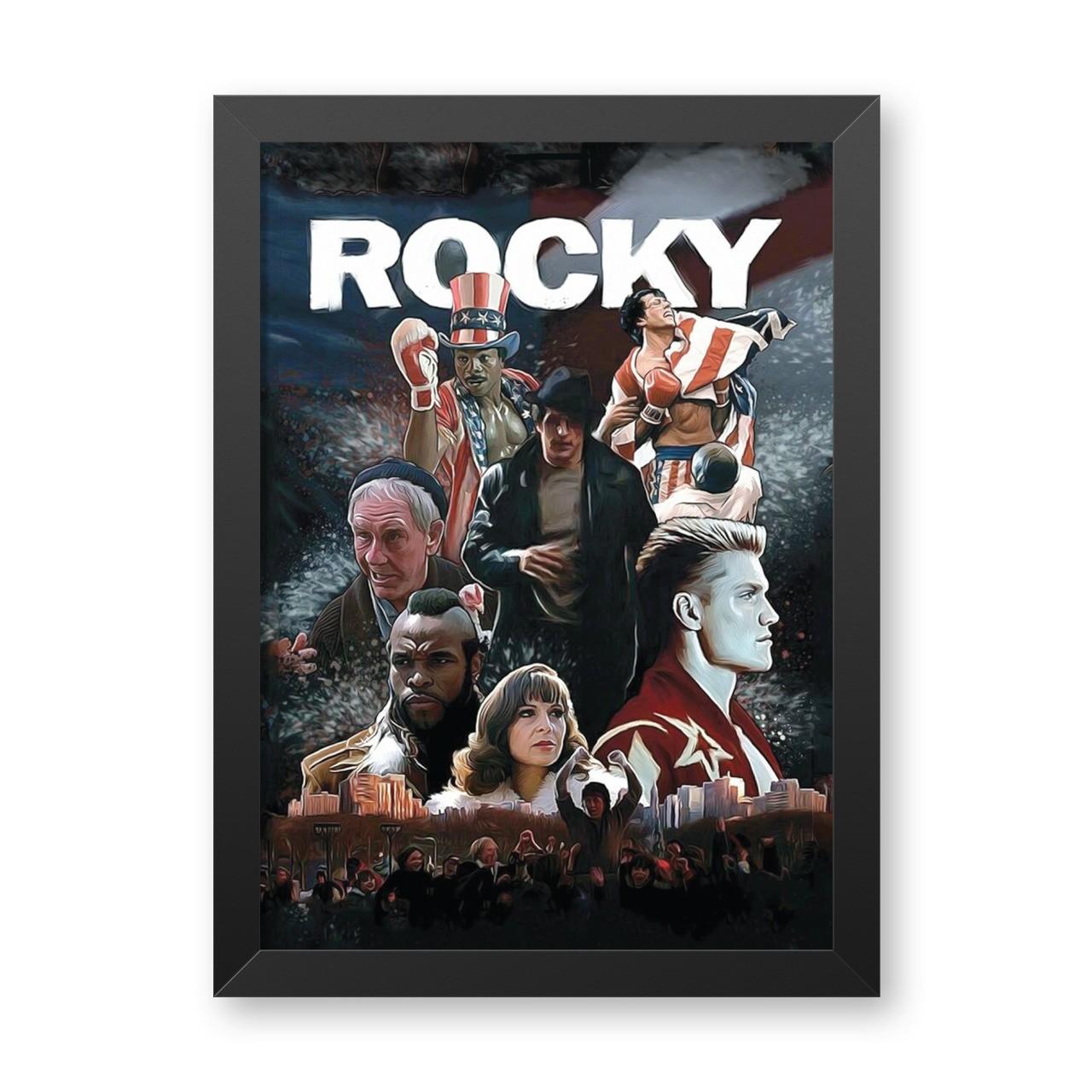 Quadro Com Moldura: Rocky - 46x33