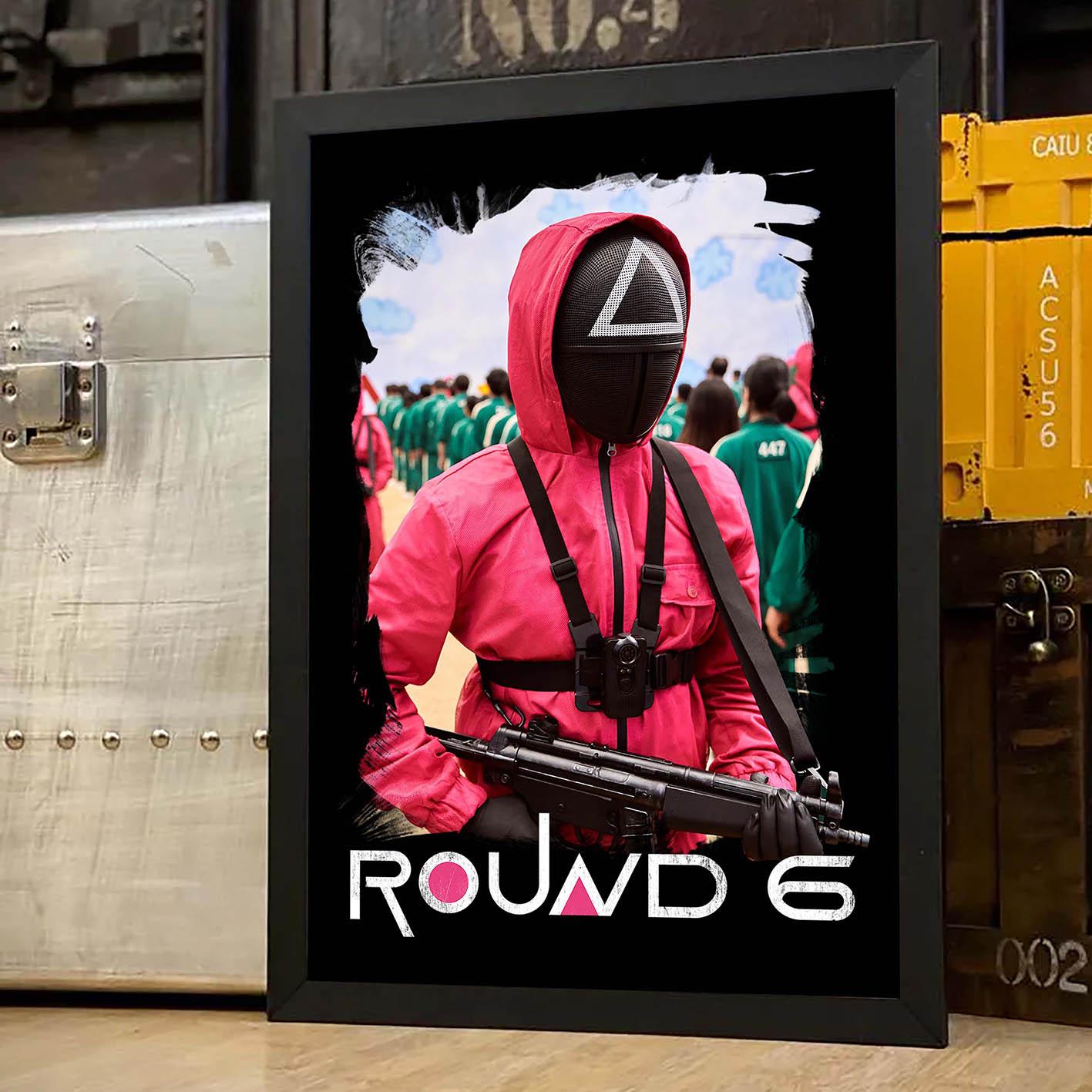 Quadro Com Moldura Round 6 Squid Game Netflix - 46x33 - EV
