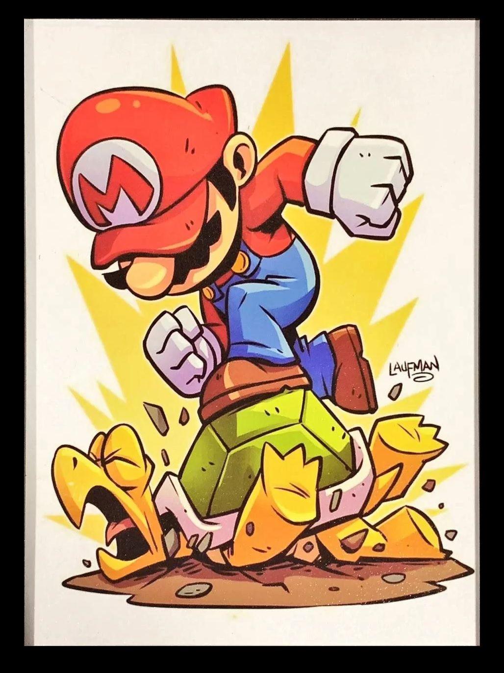 Quadro com Moldura Smash Mario: Super Mario Bros - EV