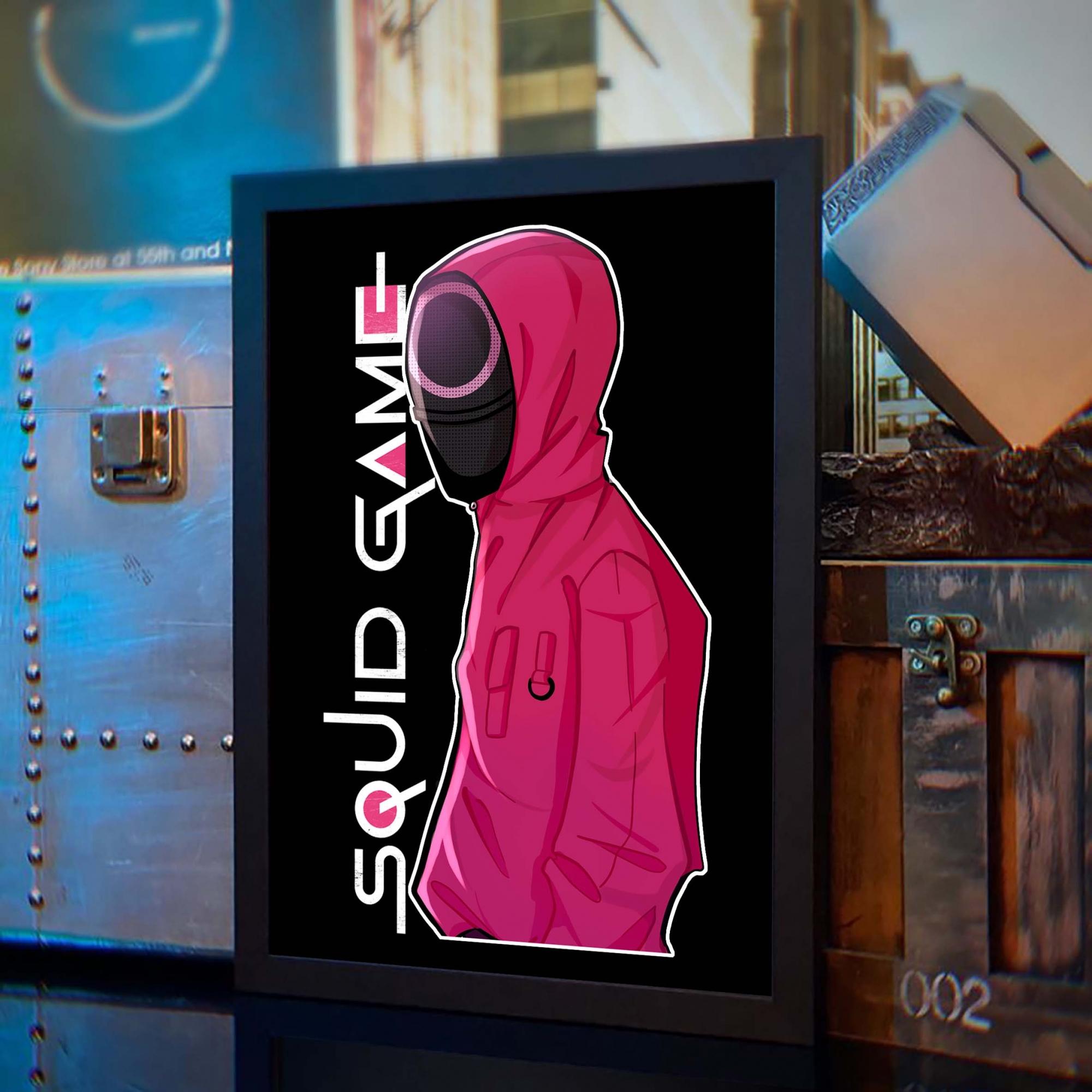 Quadro Com Moldura Squid Game Round 6 Netflix - 46x33