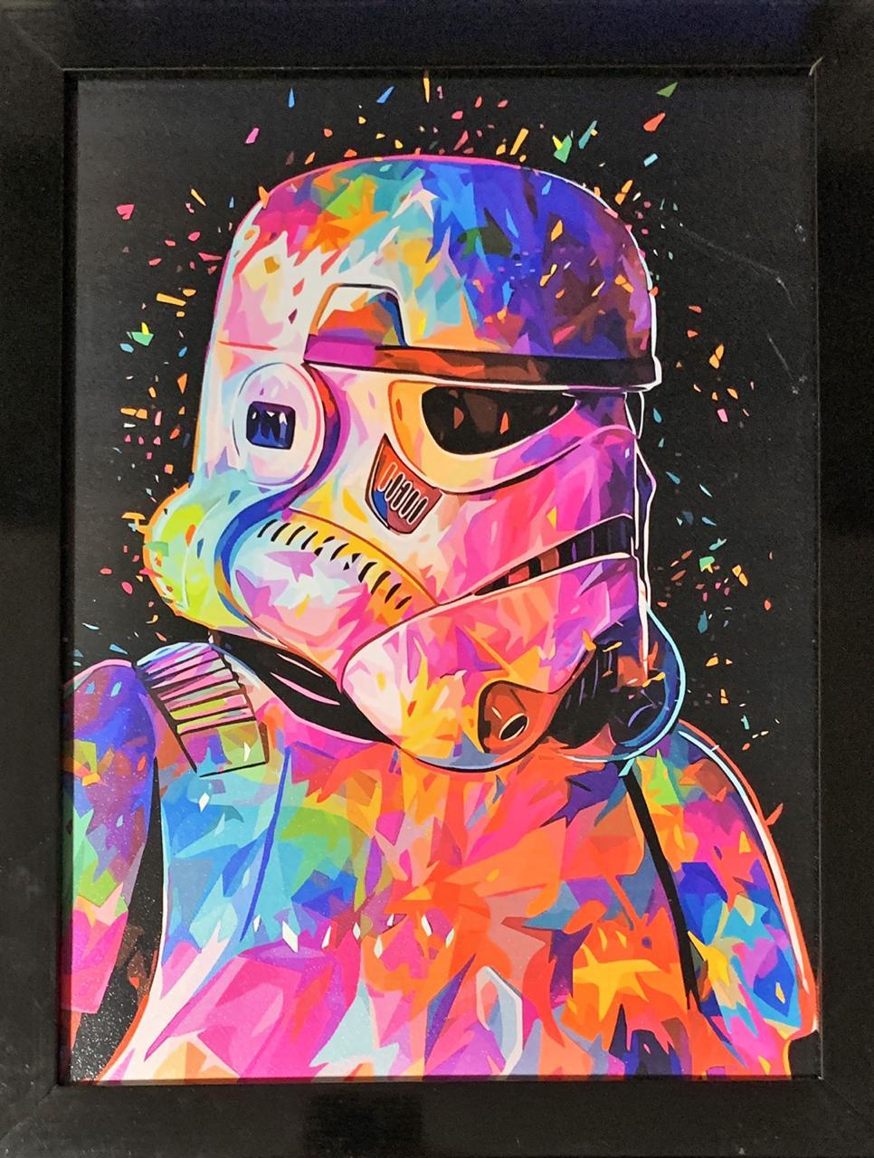 Quadro com Moldura Stormtrooper Colors: Star Wars - 46x33