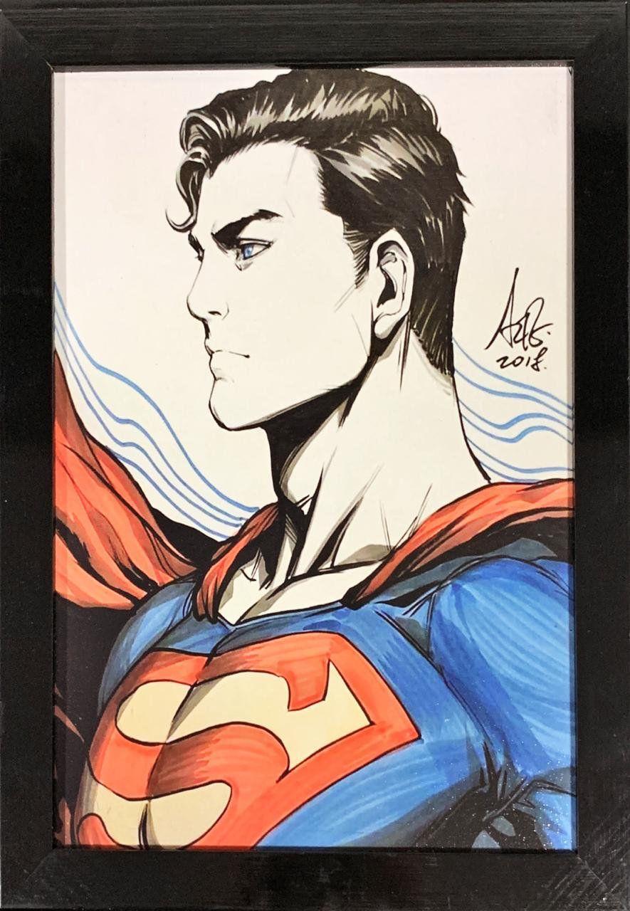 Quadro com Moldura Super-Homem (Superman) Cartoon: DC Comics