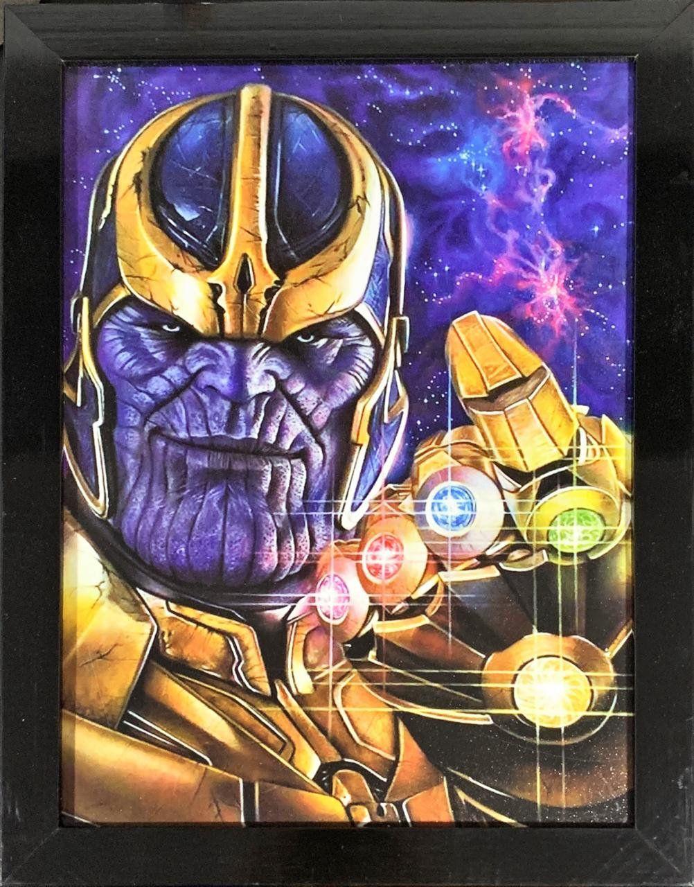 Quadro com Moldura Thanos: Vingadores Guerra Infinita 46x33