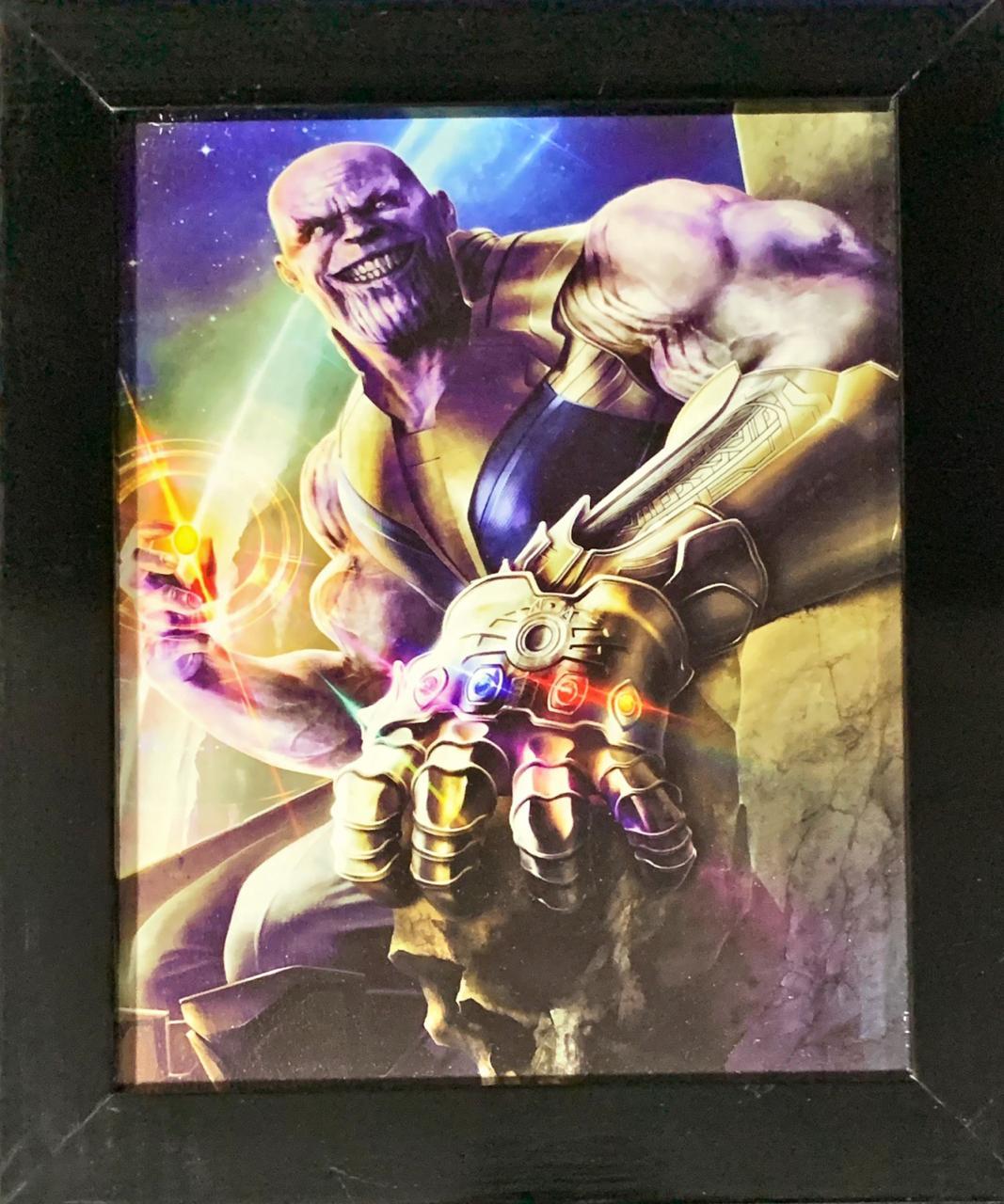 Quadro com Moldura Thanos: Vingadores: Guerra Infinita (Avengers: Infinity War) - 24x29