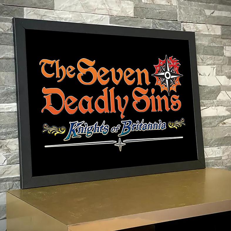Quadro Com Moldura The Seven Deadly Sins Knights Of Britania Os Sete Pecados Capitais Anime Netflix - 33x46 - EV