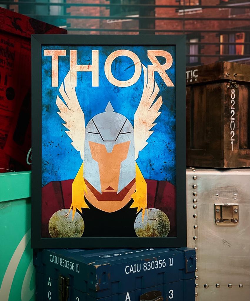 Quadro Com Moldura Thor HQ Marvel Comics - 33x46 - EV