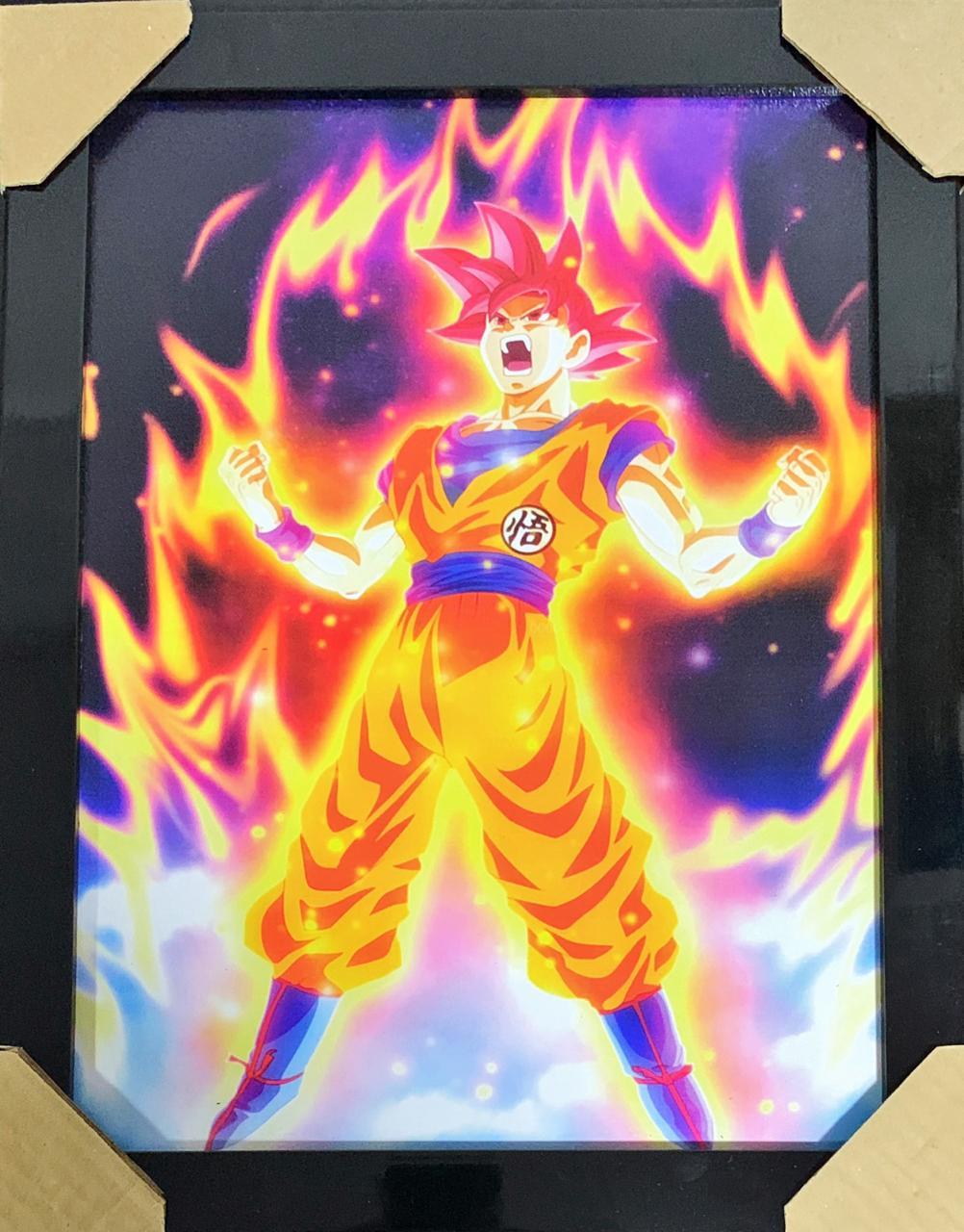Quadro com Moldura Transformação Goku: Dragon Ball Z