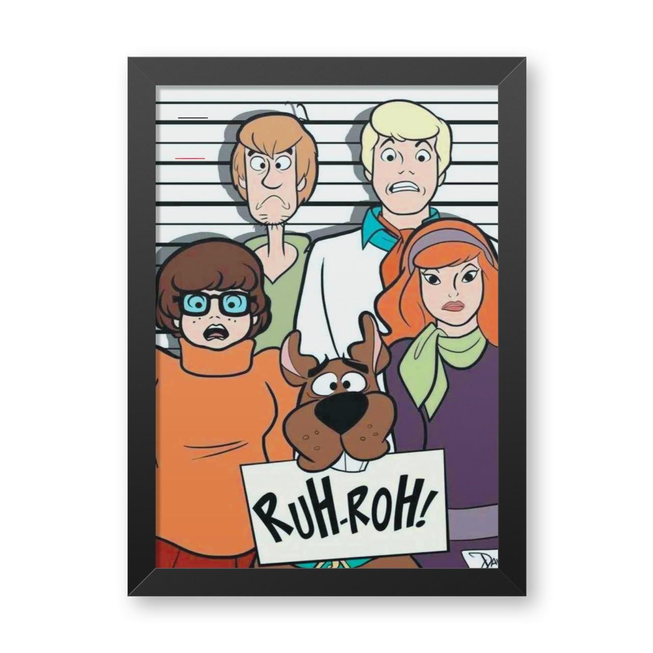 Quadro Com Moldura: Turma Scooby Doo ''Ruh-Roh!'' (Scooby Doo) - 46x33