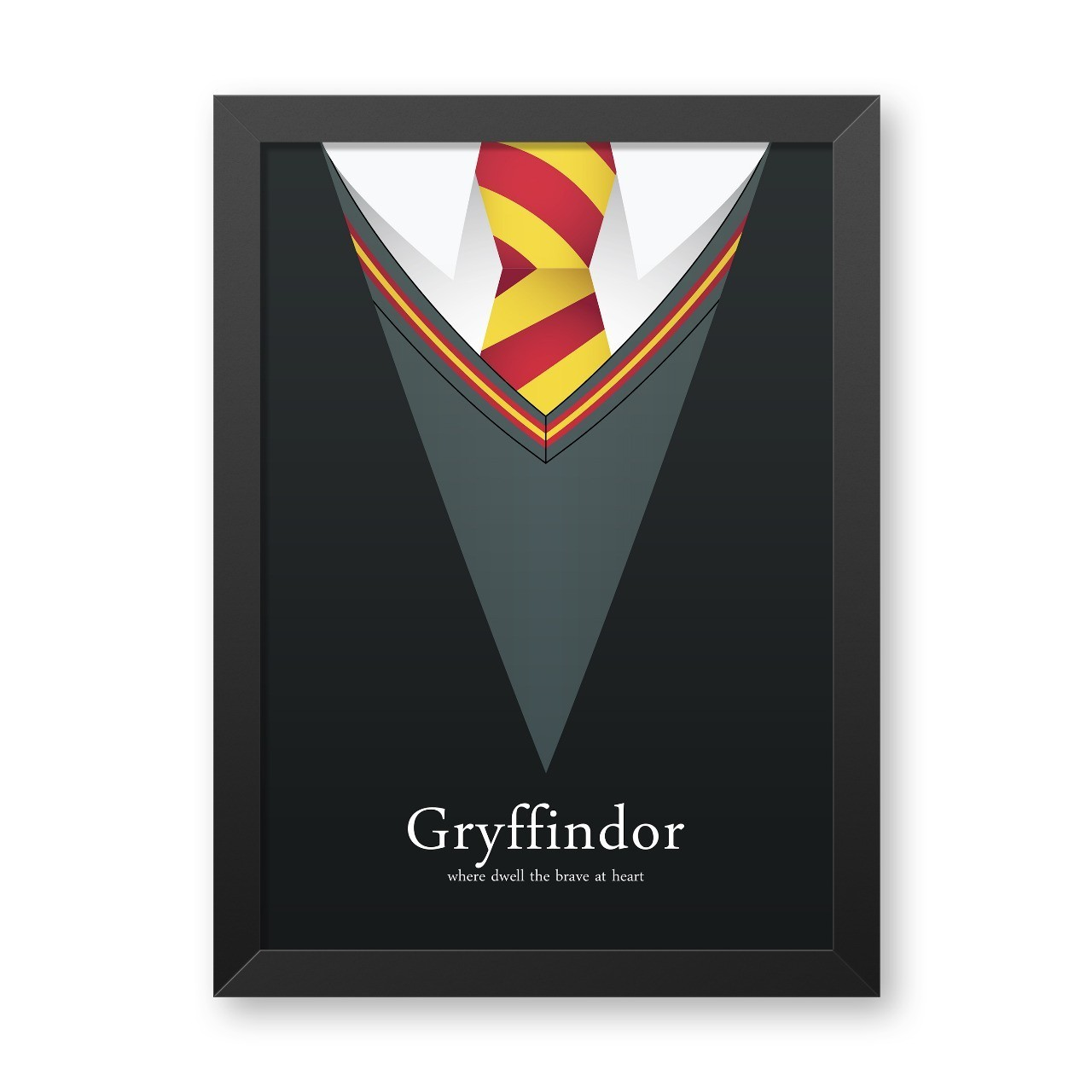 Quadro Com Moldura: Uniforme Gryffindor (Harry Potter) - 46x33