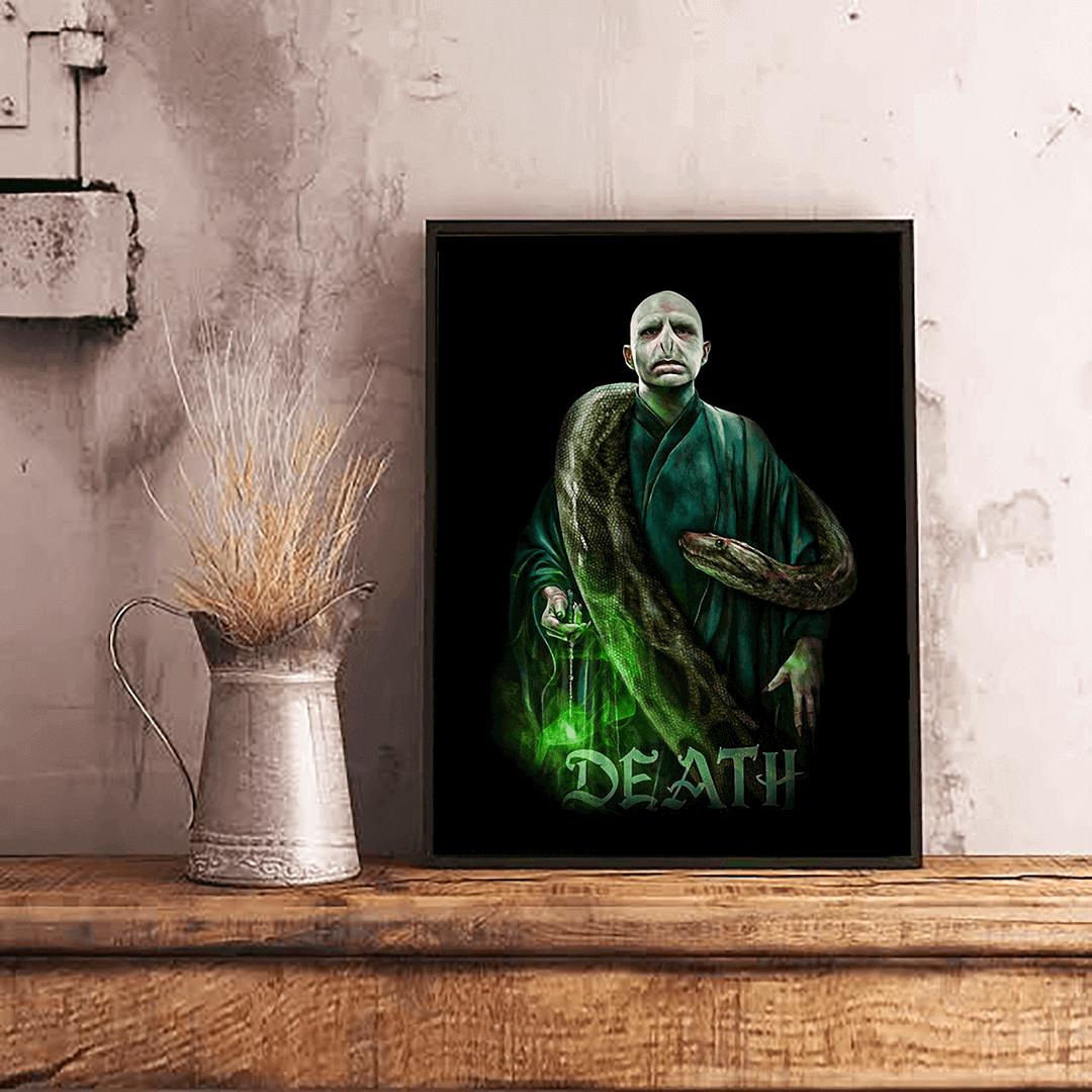 Quadro Com Moldura Voldemort & Nagini de Volta a Vida: