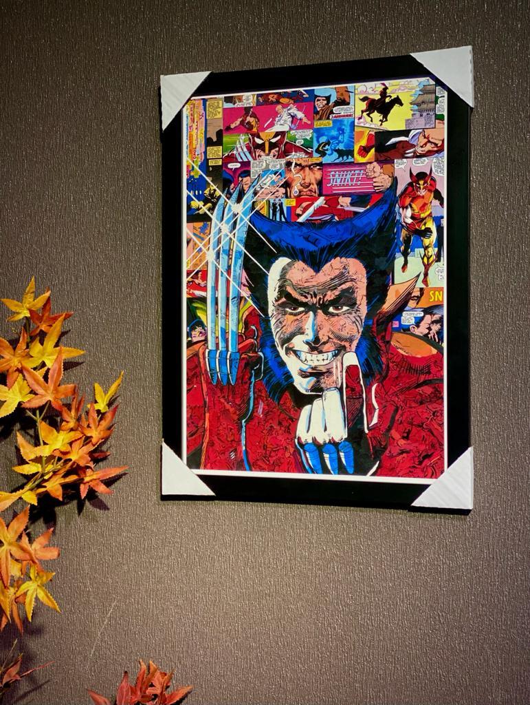 """Quadro Com Moldura: """"Wolverine Clássico'' (Marvel) - 49x36"""