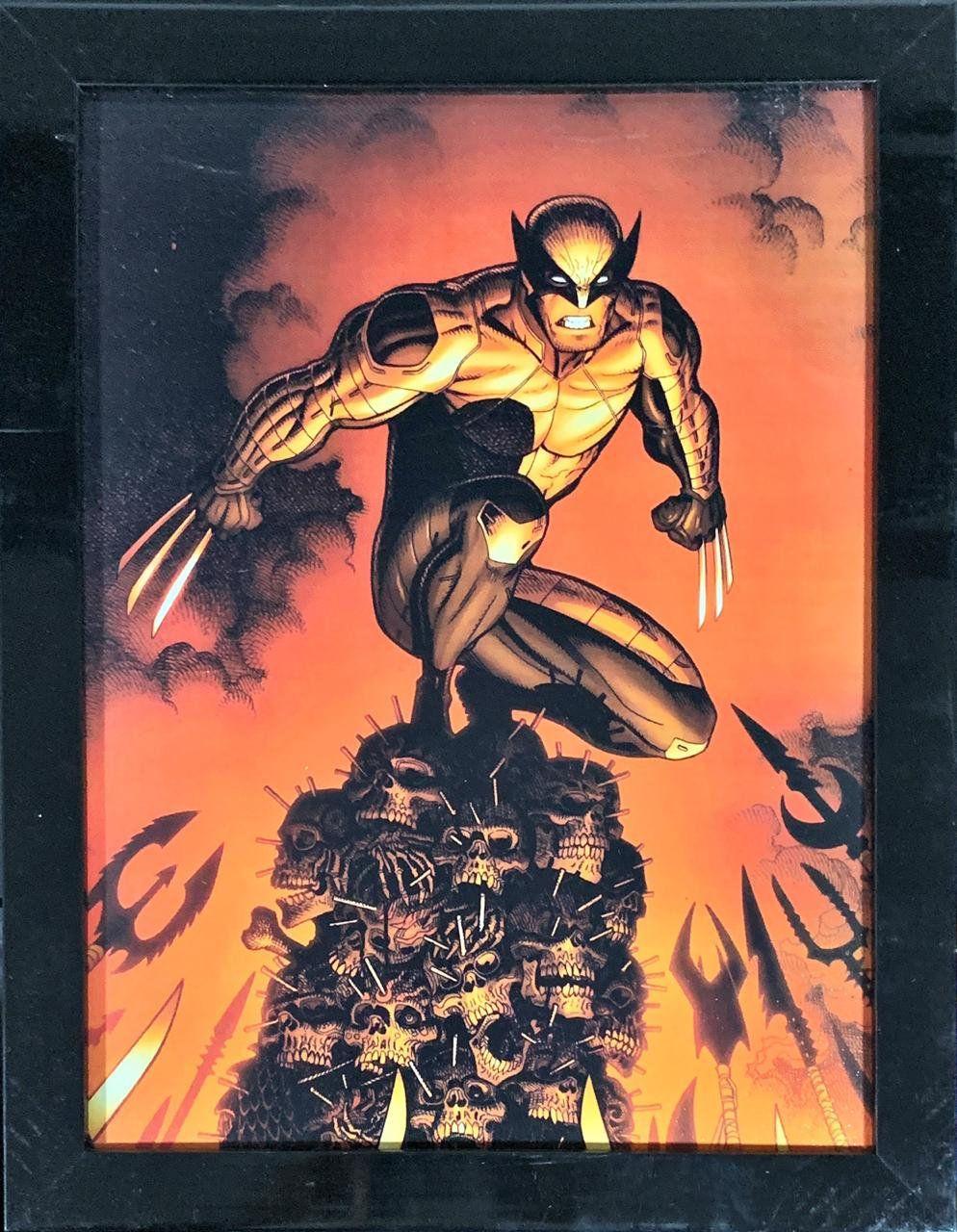 Quadro com Moldura Wolverine: Marvel