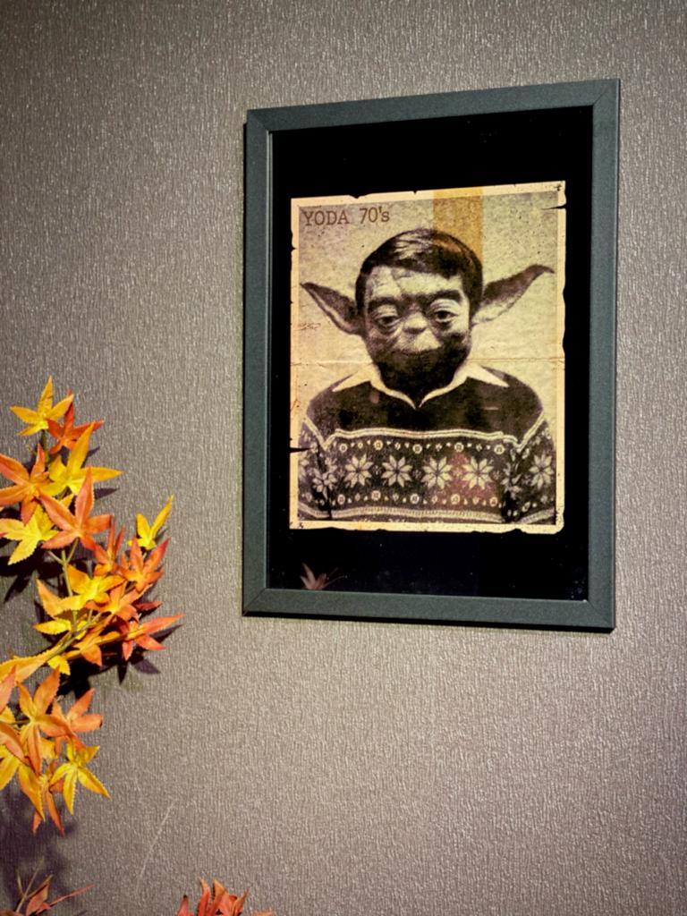 Quadro Com Moldura: Yoda (Anos 70) Star Wars - 46x33