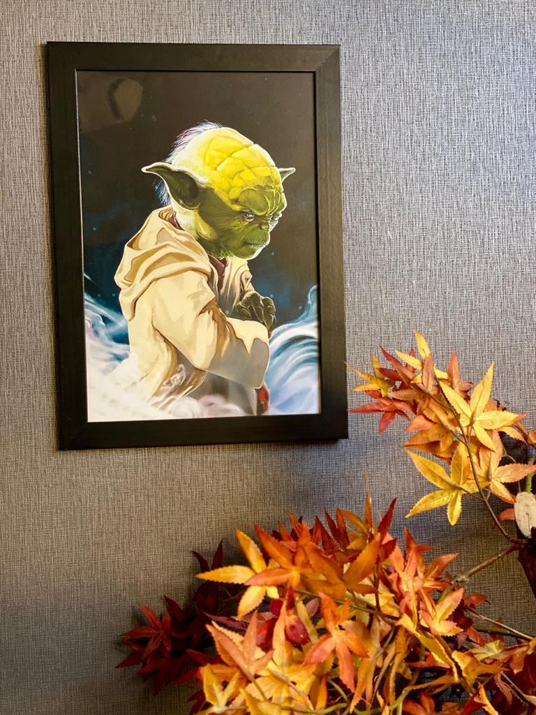 Quadro Com Moldura: Yoda ( Star Wars) - 46x33 - EV