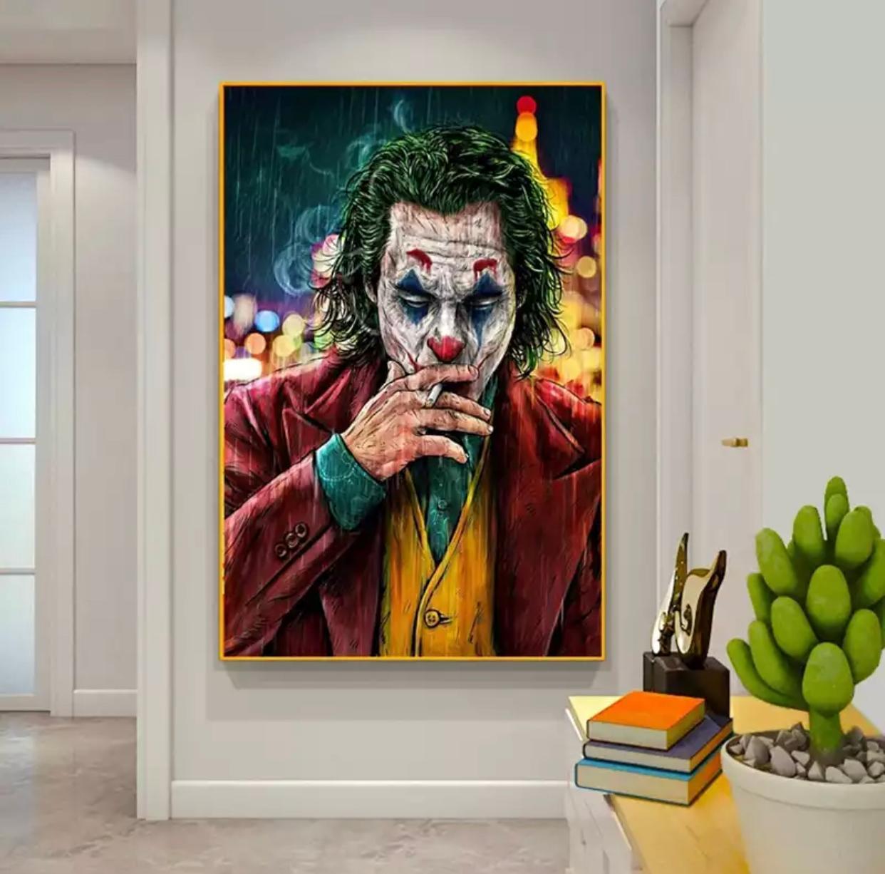 Quadro Coringa Joker Joaquin Phoenix Canvas Moldura Premium 60X80cm