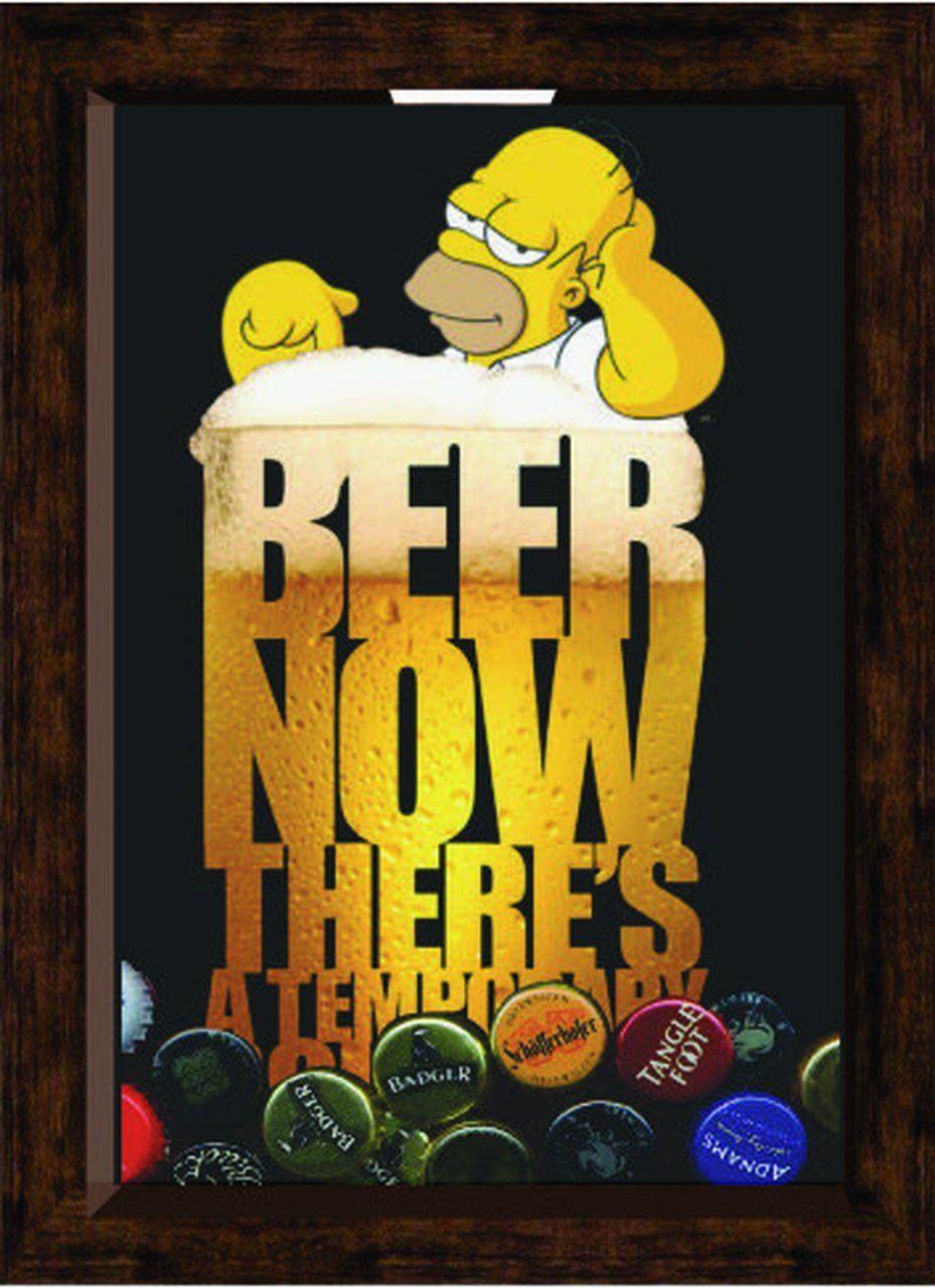 Quadro de Tampinhas Homer: The Simpsons (Pequeno)