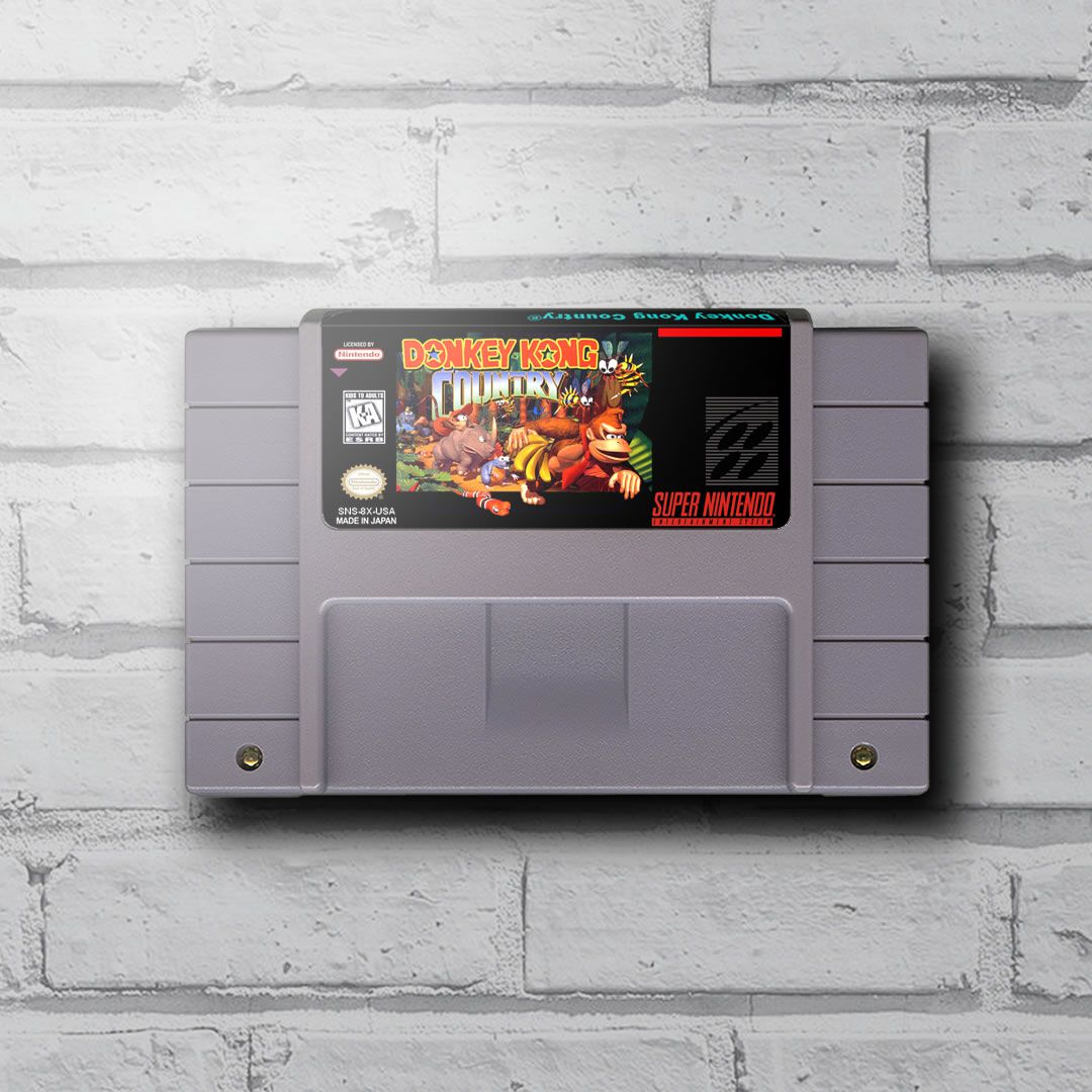 Cartucho Decorativo Super Nintendo - Donkey Kong Country - Quadro 3D