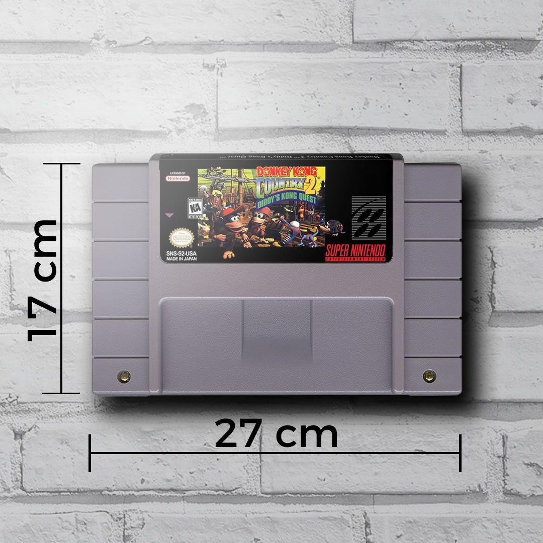 Cartucho Decorativo Super Nintendo - Donkey Kong Country II - Quadro 3D