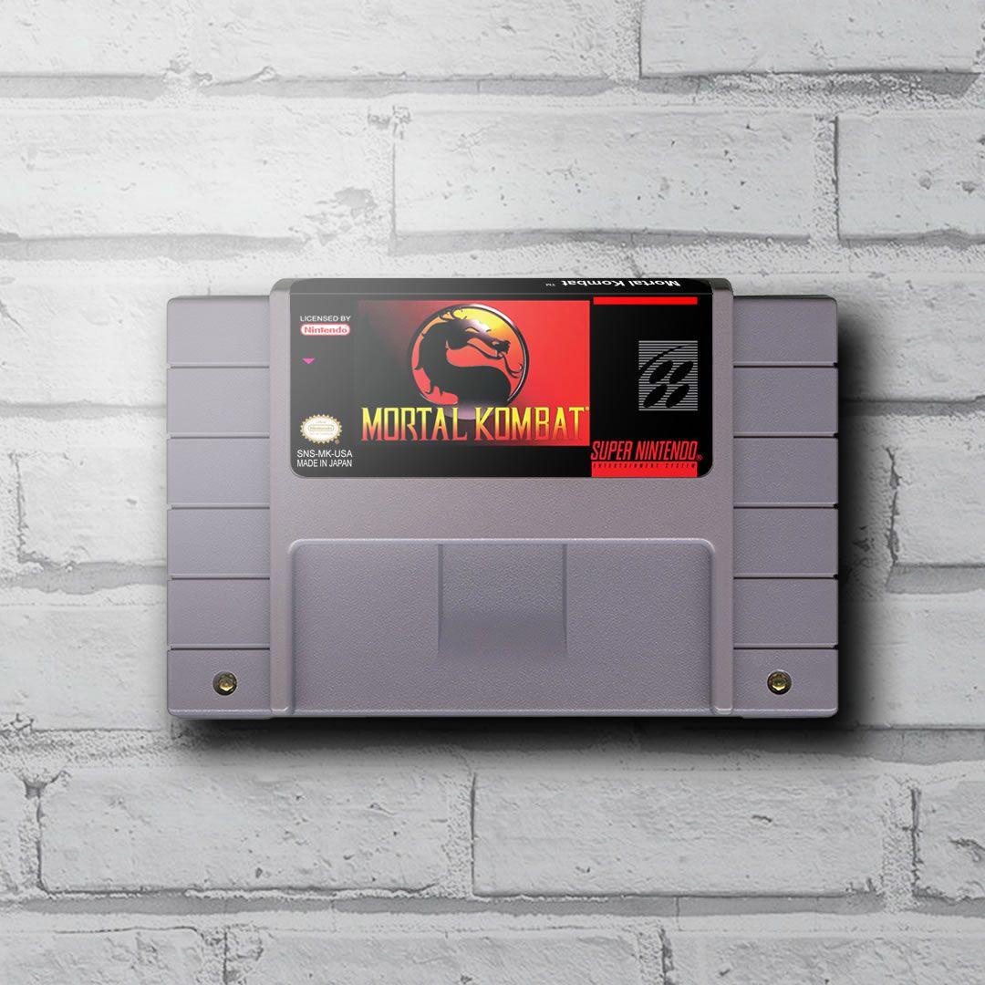 Cartucho Decorativo Super Nintendo - Mortal Kombat - Quadro 3D