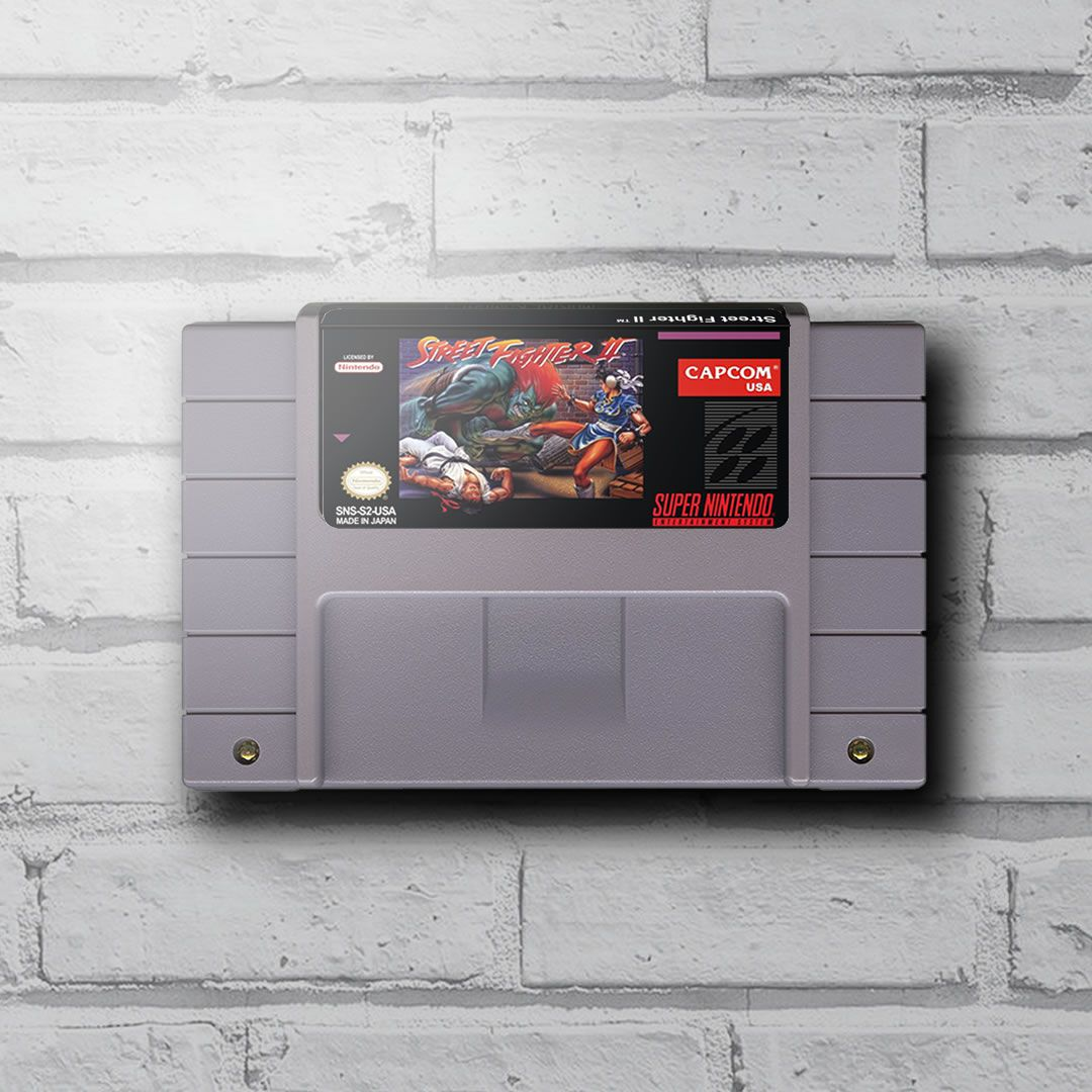 Cartucho Decorativo Super Nintendo - Street Fighter II - Quadro 3D
