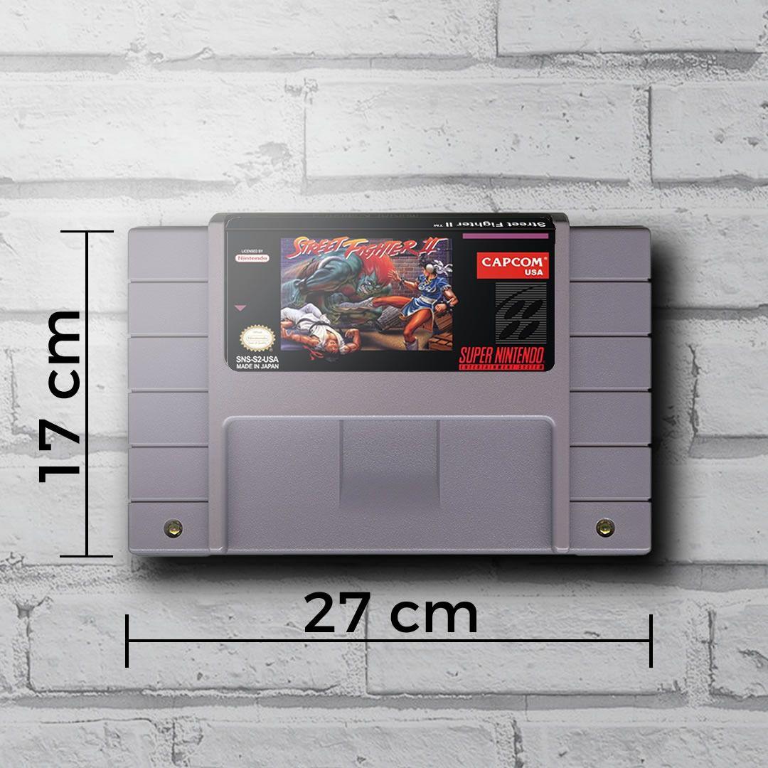 Cartucho Decorativo Super Nintendo - Street Fighter II - Quadro 3D