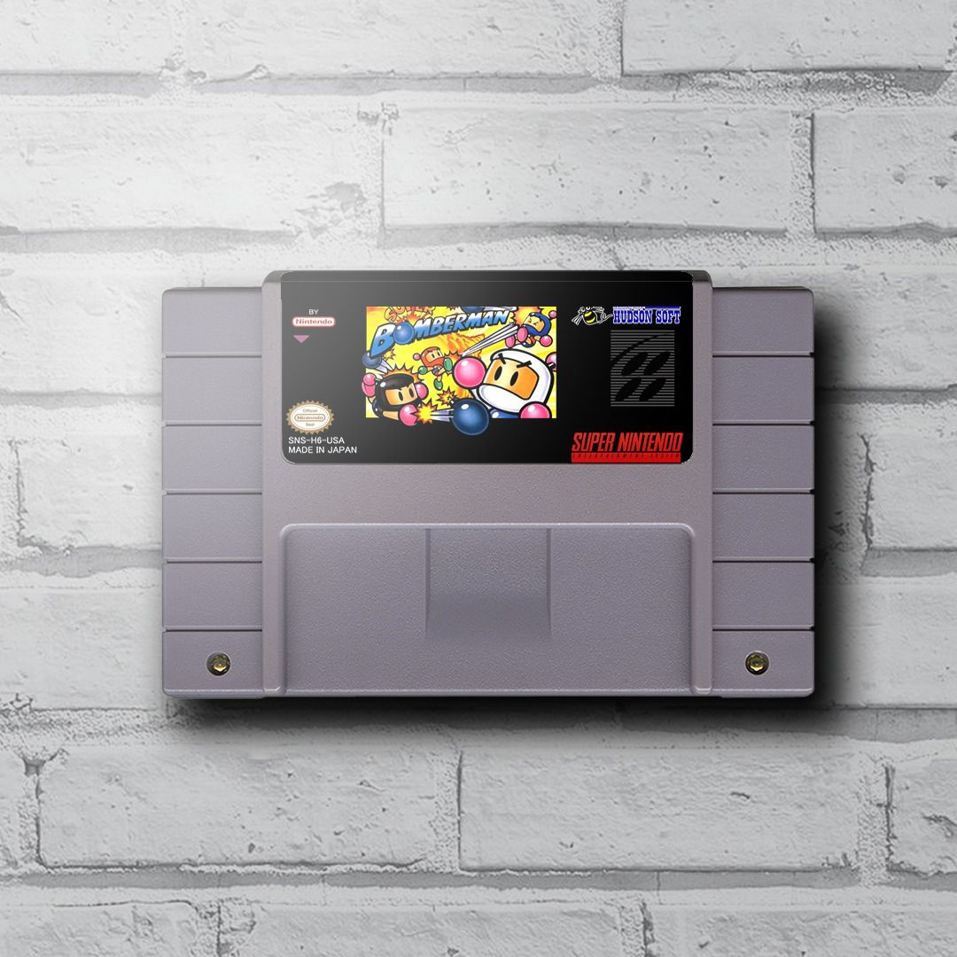 Cartucho Decorativo Super Nintendo - Super Bomberman - Quadro 3D