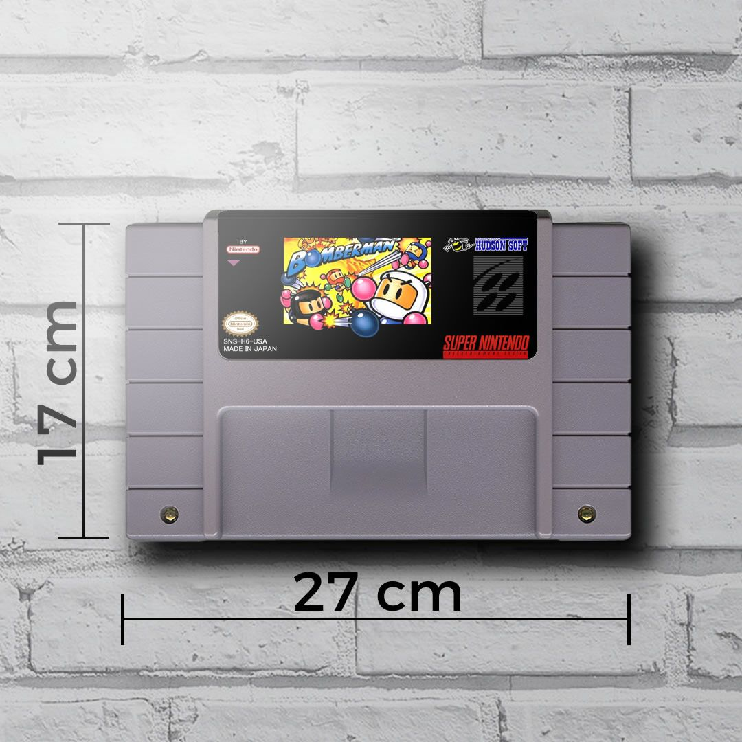Cartucho Decorativo Super Nintendo - Super Bomberman - Quadro 3D