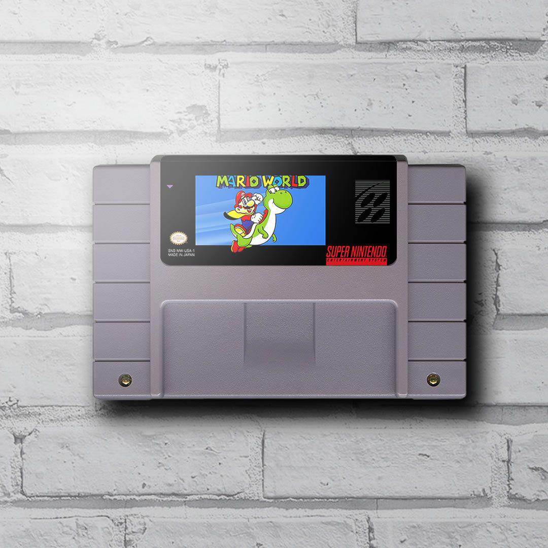 Cartucho Decorativo Super Nintendo - Super Mario Bros - Quadro 3D