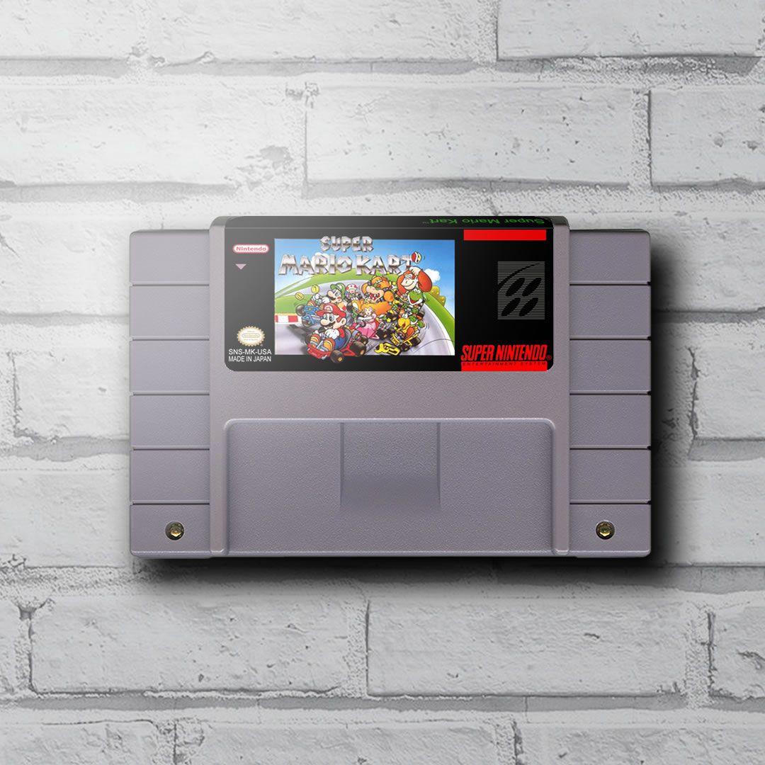 Cartucho Decorativo Super Nintendo - Super Mario Kart - Quadro 3D