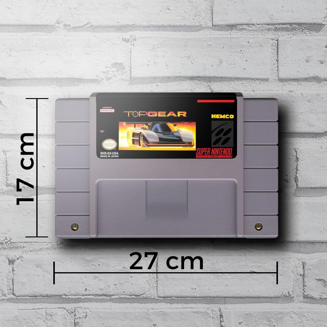 Cartucho Decorativo Super Nintendo - Top Gear - Quadro 3D