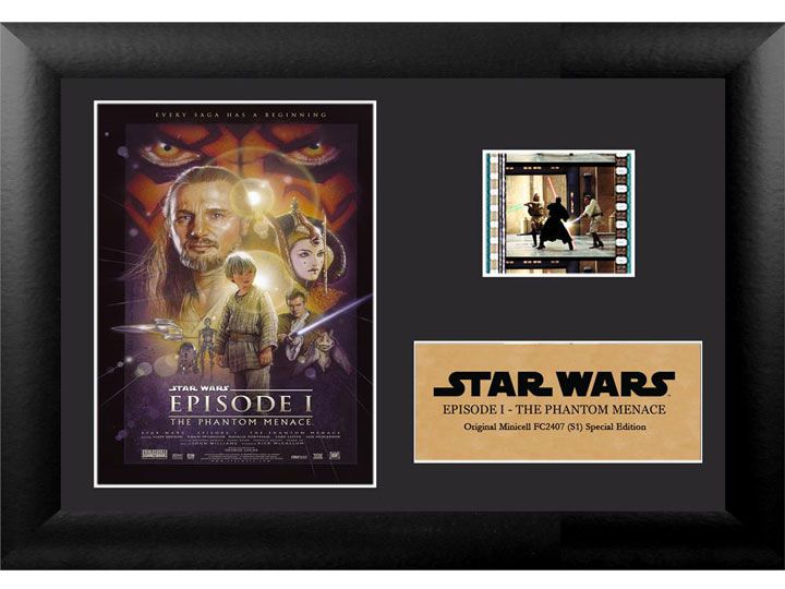 Quadro Decorativo (Com Película): Star Wars - A Ameaça Fantasma (The Phantom Menace) - 17x12 (Apenas Venda Online)