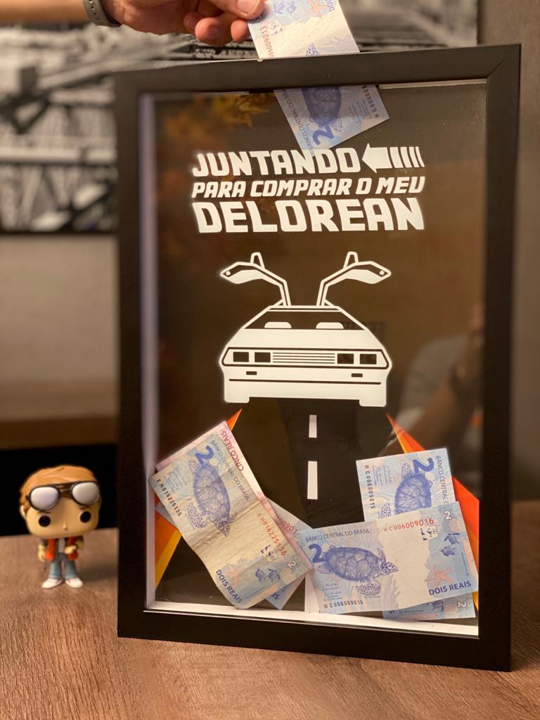 Quadro Delorean Porta Dinheiro: De Volta para o Futuro ( The Back to The Future )