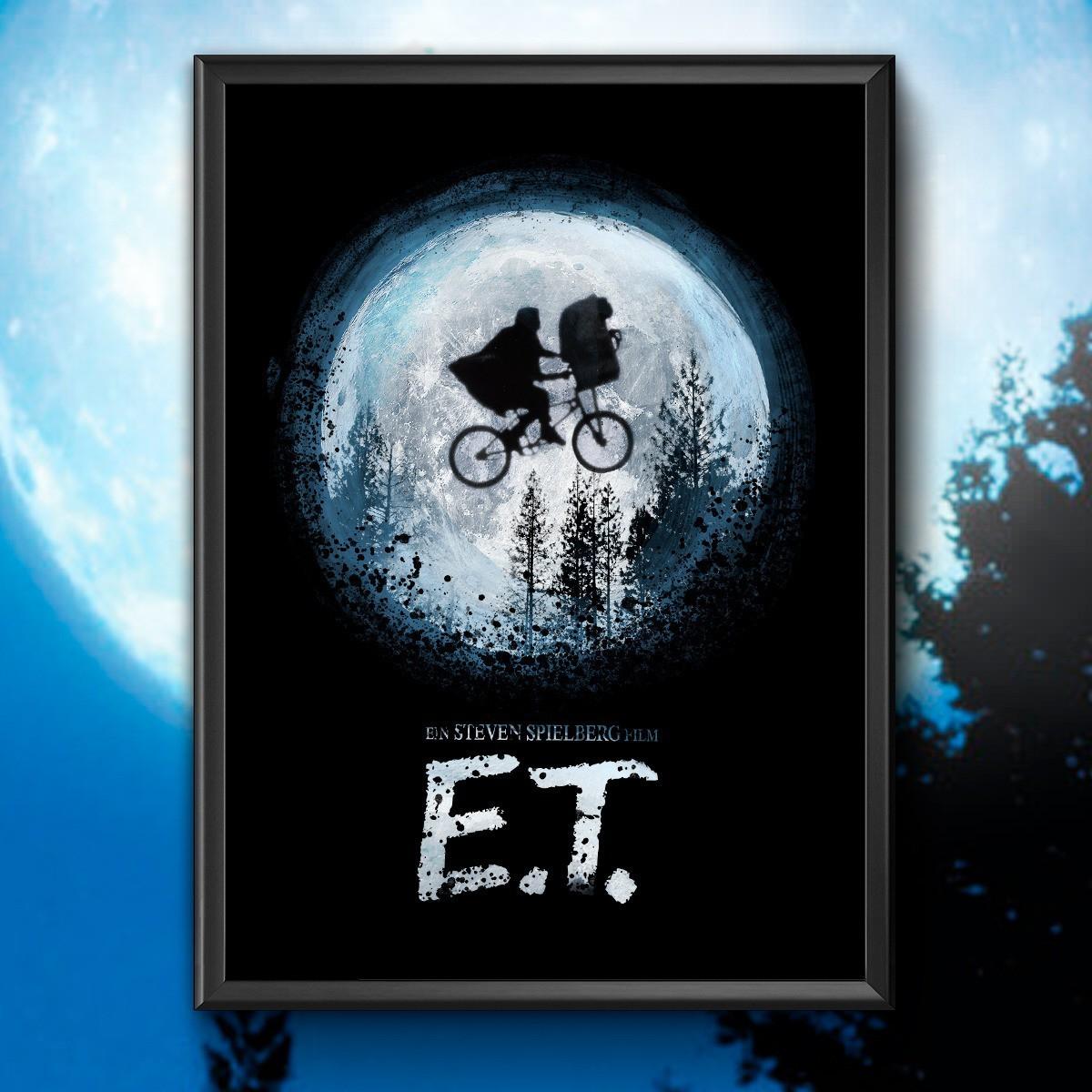 Quadro com Moldura E.T.: Steven Spielberg 46x33cm - EV