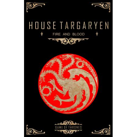 Quadro Game of Thrones Casa Targaryen - Geton