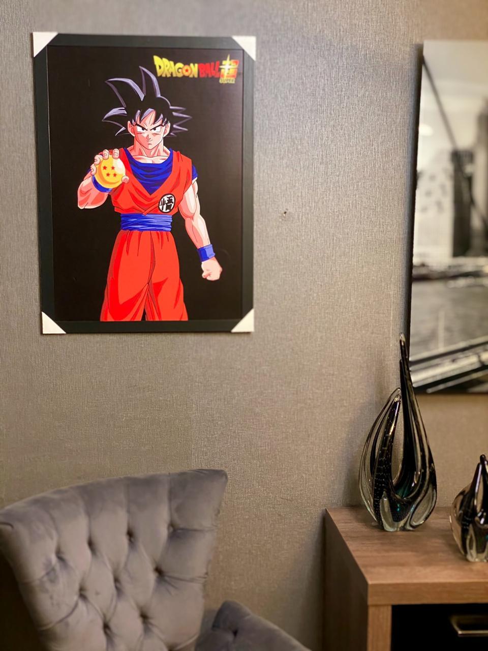 Quadro: Goku ( Esfera do Dragão 4 Estrelas )
