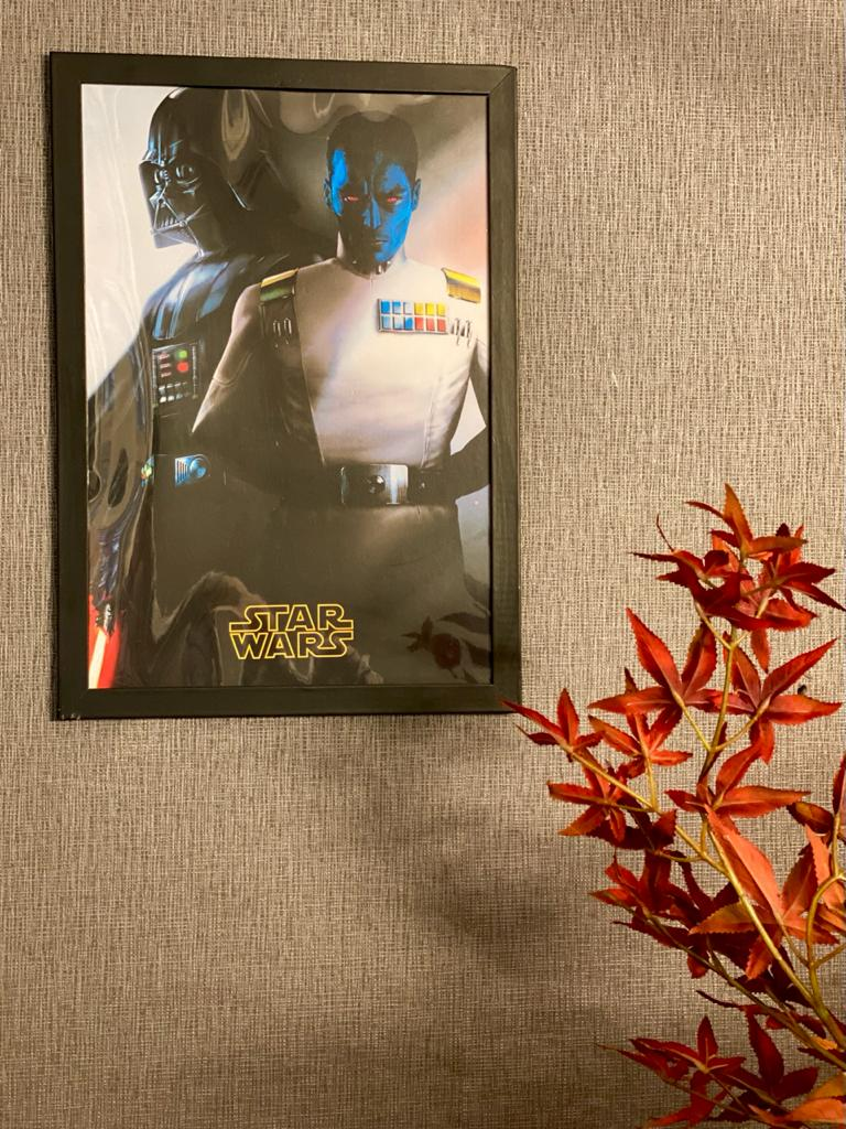 Quadro Com Moldura Grande Almirante Thrawn E Darth Vader: Star Wars Rebels 46x33 - EV