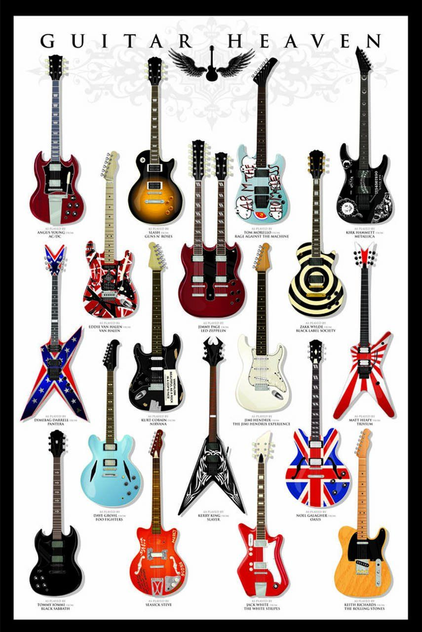 Quadro Guitar Heaven - Wall Street Posters
