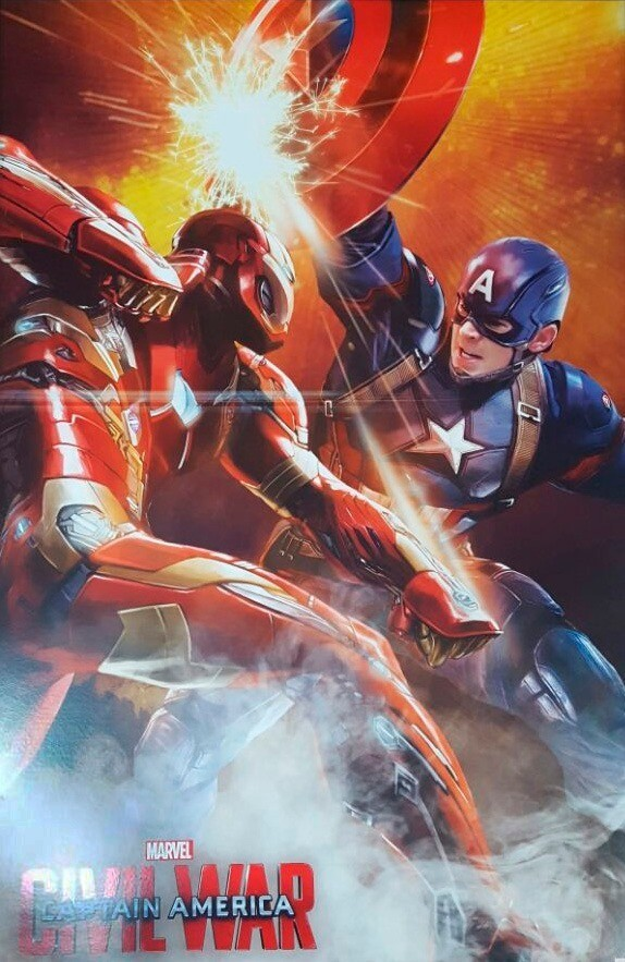 Quadro Homem de Ferro vs Capitão America Civil Wars - Wall Street Posters