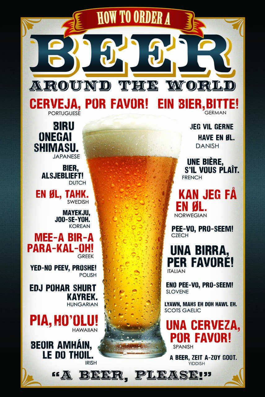 Quadro How To Order a Beer - Wall Street Posters