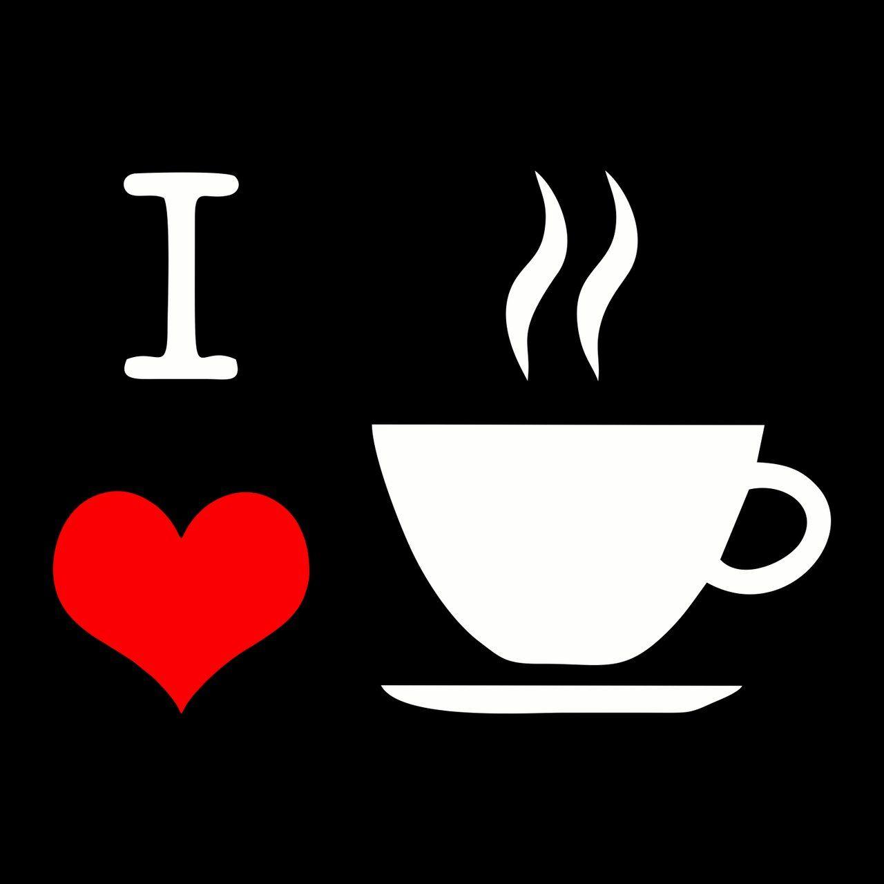"Quadro ""I Love Café"" - Wall Street Posters"
