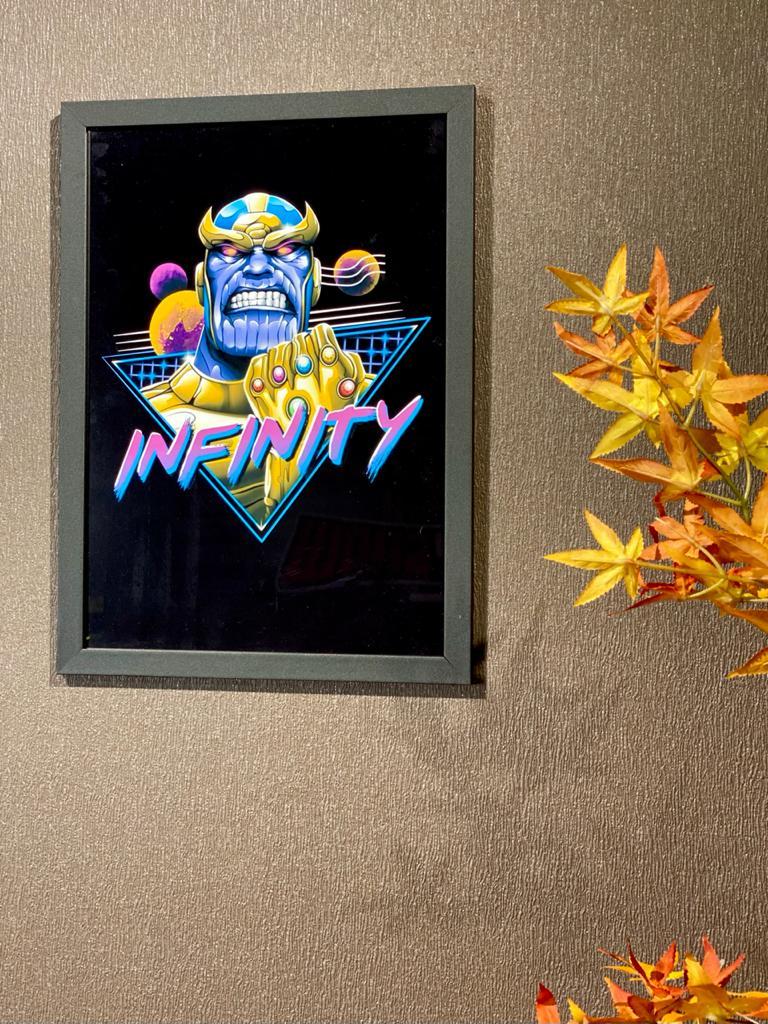 Quadro Com Moldura '' Infinity '' Thanos Marvel Comics 46x33 - EV