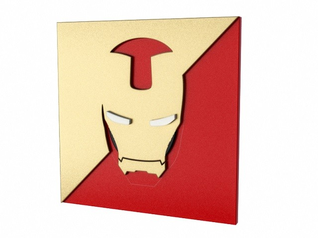 Quadro Iron Man Mask - Geton
