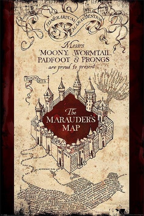 Quadro Mapa do Maroto: Harry Potter - Wall Street