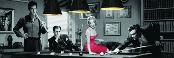 Quadro Marilyn, James, Elvis e Humprey - Wall Street Posters